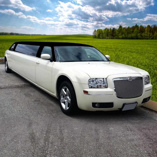 Ghost White Tuxedo Top Chrysler 300 Limo