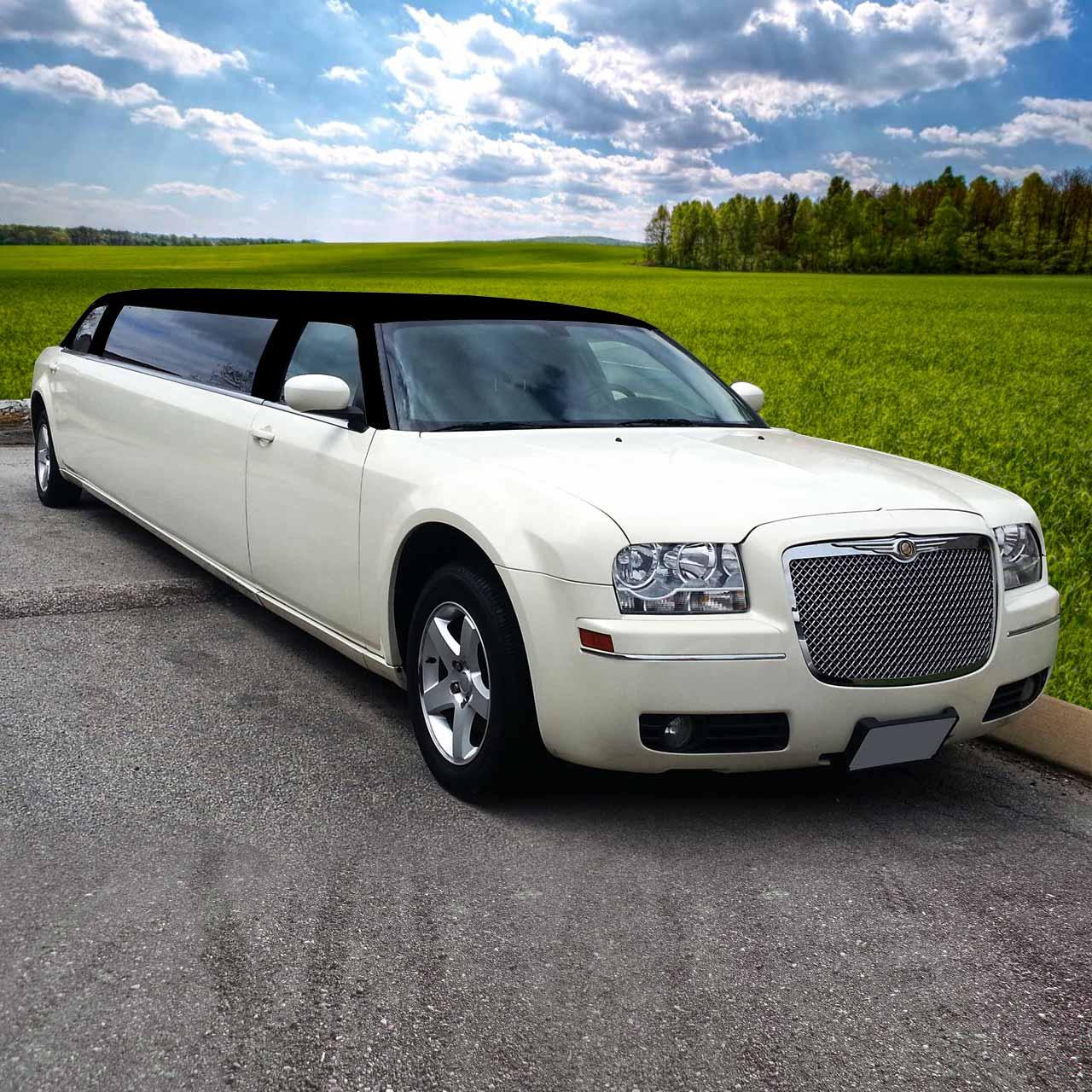 Ghost White Tuxedo Top Chrysler 300 Limo